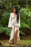 Natural Frayed Cotton Kimono - Festival Clothing Bohemian Gypsy Hippie Wild Sexy Boho