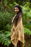 Raw Inner Temple Shawl - Festival Clothing Kashmiri Festival Boho Winter Warm Gypsy Hippie