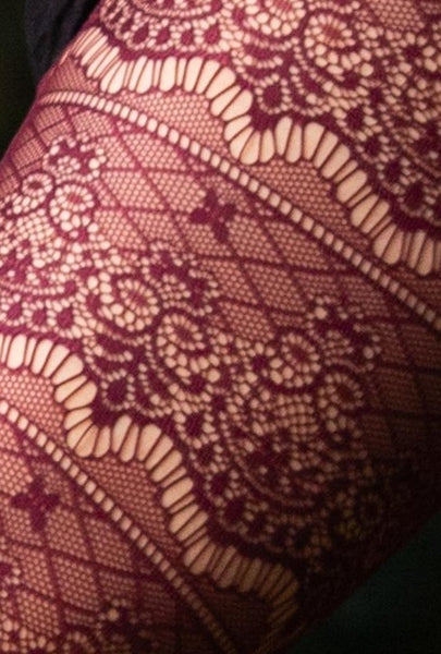 Baroque Fishnet Leggings - Sexy Boho Leggings Tights Festival Comfy Gypsy Stockings