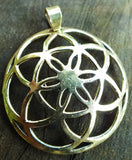 3D Seed of Life - Sacred Geometry, Kabbalah Jewelry, Hand Made Pendant