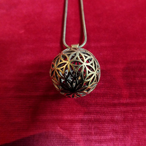 3D Flower of Life Pendant -  Sacred Geometry Seed of Life Spirit Science Goa Festival