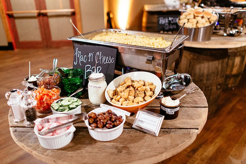 wedding mac and cheese food station