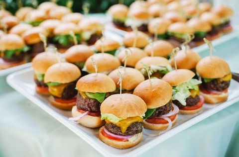 Tasty Table Wedding Catering in Philadelphia mini cheeseburger sliders station