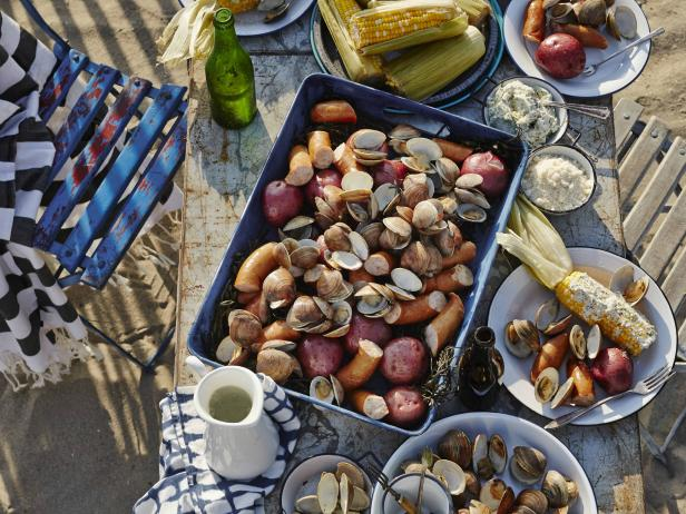 RUSTIC BACKYARD SEAFOOD BOIL from Tasty Table Philadelphia Event Catering