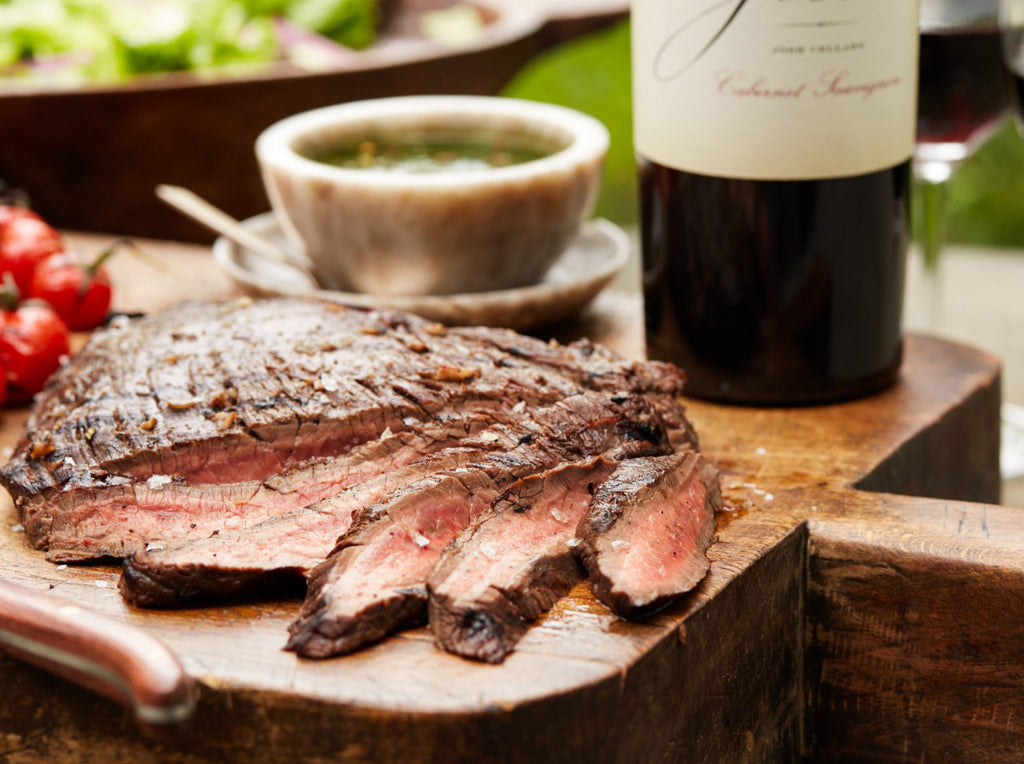 Flank Steak with Cabernet Gravy