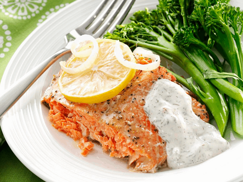 Atlantic Salmon with Dill Sauce