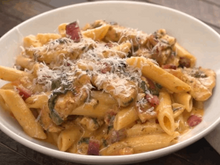 Chicken Bacon Pasta with Spinach