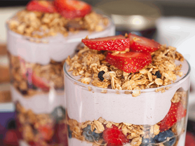 Strawberry Blueberry Yogurt Parfait from Tasty Table Philadelphia Event Catering