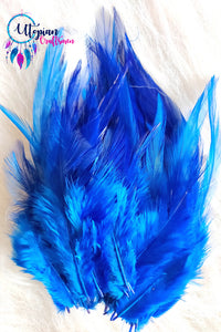 Blue Long Feathers For Crafts (100 pieces per packet) - Utopian Craftsmen