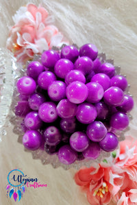 Round Shaded Purple Colour Glass Beads 10mm - Approx 35 Pcs - Utopian Craftsmen