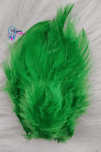 100 pcs Green Colour Chicken Feathers by Utopian Craftsmen - Utopian Craftsmen