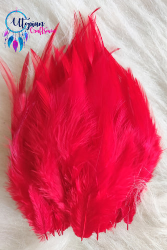 Red Long Feathers For Crafts (100 pieces per packet) - Utopian Craftsmen