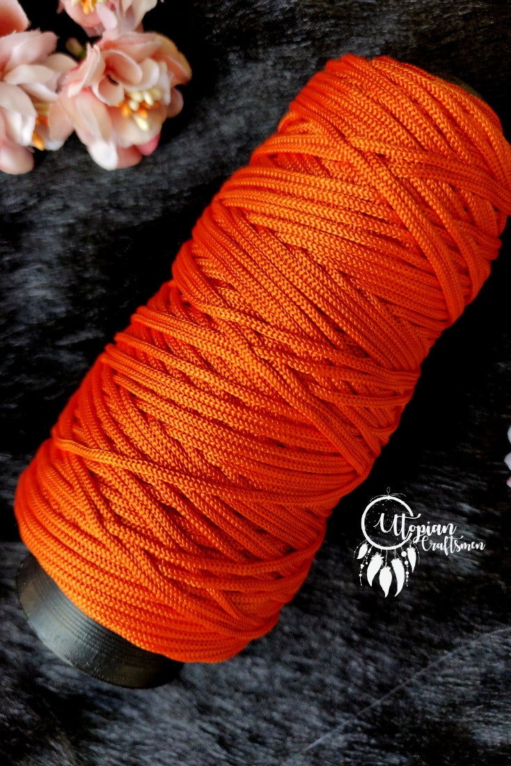 Orange Colour Cone Thread for Weaving & Knitting - Approx 125 metres. - Utopian Craftsmen