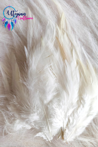 White Long Feathers For Crafts (100 pieces per packet) - Utopian Craftsmen