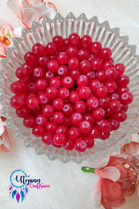 Round Shaded Red Colour Glass Beads 6mm - Approx 60 Pcs - Utopian Craftsmen