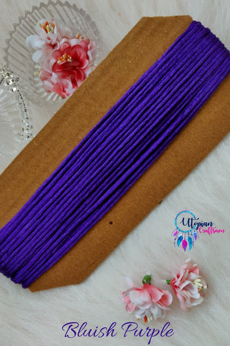Purple Silk Cord/Thread (Malai Dori) by Utopian Craftsmen - 15 Metres - Utopian Craftsmen