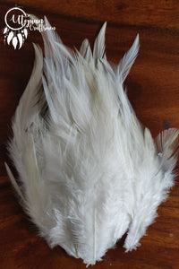 White Long Feathers For Crafts (Approx 100 pieces per packet) - Utopian Craftsmen