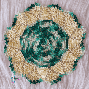 Handmade Multicolour 9 inches mercerised cotton crochet doilies
