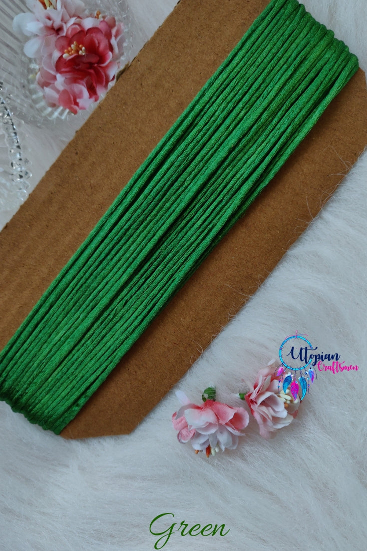 Green Silk Cord/Thread (Malai Dori) by Utopian Craftsmen - 15 Metres - Utopian Craftsmen