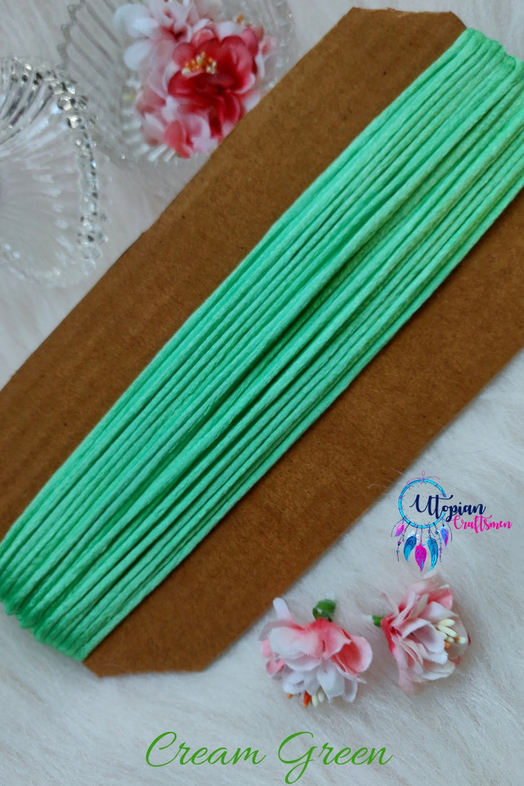 Pista Green Silk Cord/Thread (Malai Dori) by Utopian Craftsmen - 15 Metres - Utopian Craftsmen