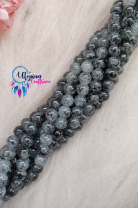 Shaded Grey 8mm Glass Beads