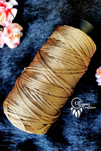 Honey Brown Colour Purse Cone Thread for Weaving & Knitting - Approx 125 metres. - Utopian Craftsmen