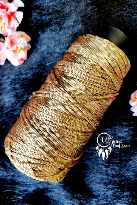 Honey Brown Colour Cone Thread for Weaving & Knitting - Approx 125 metres. - Utopian Craftsmen