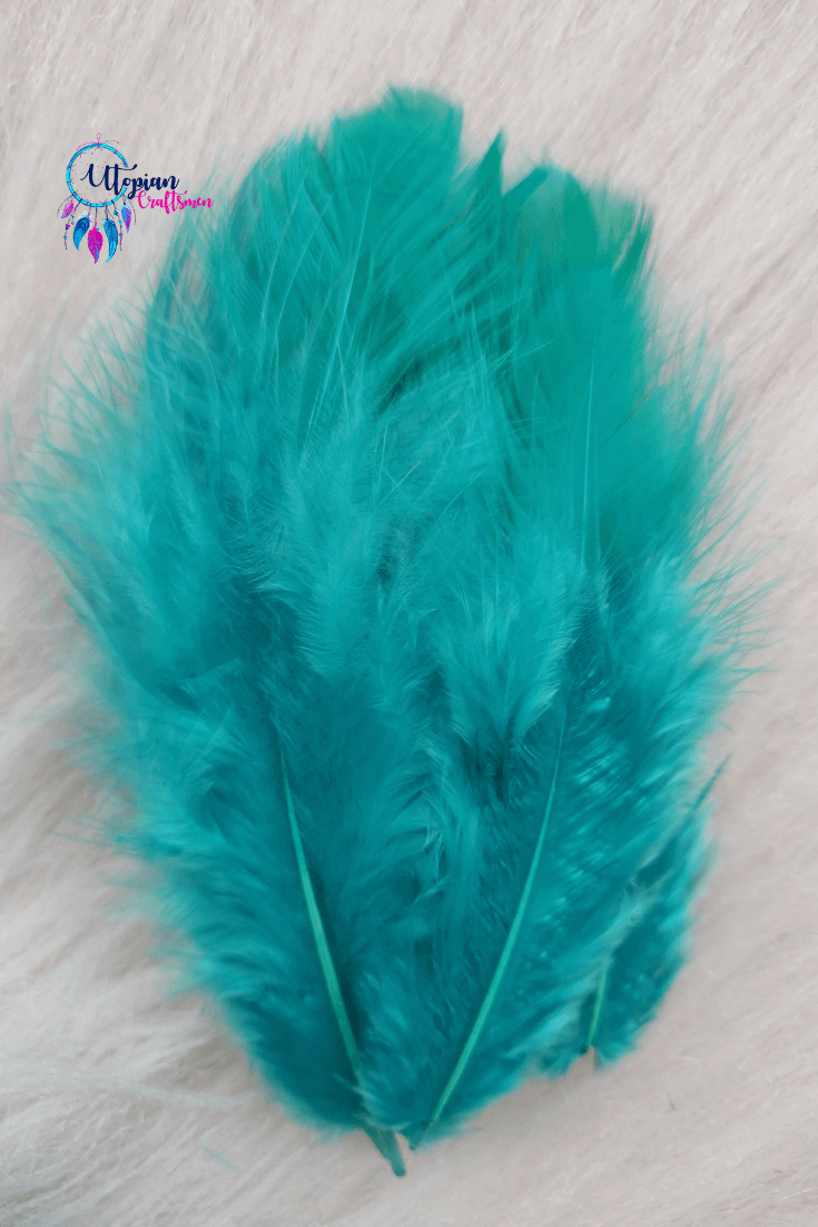 Chicken Feathers Turquoise Colour for Dreamcatchers