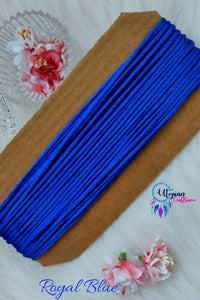 Royal Blue Silk Cord/Thread (Malai Dori) by Utopian Craftsmen - 15 Metres - Utopian Craftsmen