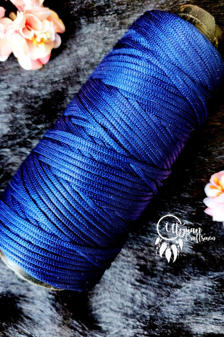 Navy Blue Colour Cone Thread for Weaving & Knitting - Approx 125 metres. - Utopian Craftsmen