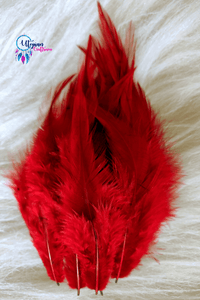 Dark Maroon Colour Long Feathers For Crafts (Approx 100 pieces per packet) - Utopian Craftsmen