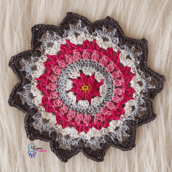 Handmade Multicolour 6 inches mercerised cotton crochet doilies