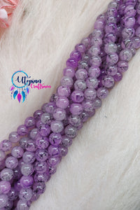 Shaded Purple Colour 8mm Glass Beads