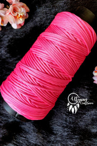 Neon Pink Colour Purse Cone Thread for Weaving & Knitting - Approx 125 metres. - Utopian Craftsmen