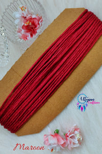 Maroon Silk Cord/Thread (Malai Dori) by Utopian Craftsmen - 15 Metres - Utopian Craftsmen