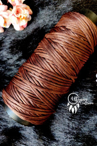 Dark Brown Colour Cone Thread for Weaving & Knitting - Approx 125 metres. - Utopian Craftsmen