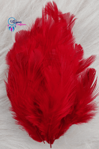 Dark Maroon Colour Chicken Feathers For Crafts (Approx 100 pieces per packet) - Utopian Craftsmen
