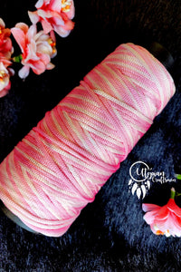 Pink & White(Dual Shade) Colour Purse Cone Thread for Weaving & Knitting - Approx 125 metres. - Utopian Craftsmen