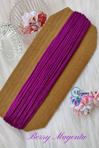 Berry Magenta Silk Cord/Thread (Malai Dori) by Utopian Craftsmen - 15 Metres - Utopian Craftsmen