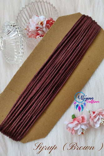 Syrum Brown Silk Cord/Thread (Malai Dori) by Utopian Craftsmen - 15 Metres - Utopian Craftsmen