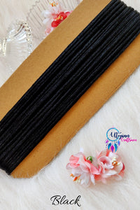Black Silk Cord/Thread (Malai Dori) by Utopian Craftsmen - 15 Metres - Utopian Craftsmen