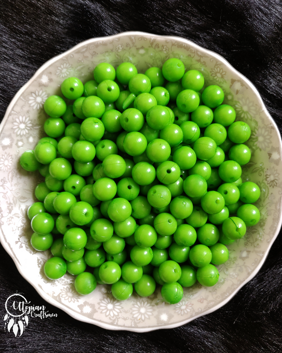 Buy Neon Green Acrylic beads online in India at affordable price | utopian craftsmen