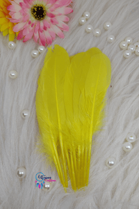 Buy online Yellow Colour Long Goose Feathers for Dream catchers | Utopian Craftsmen