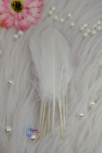 Buy online White Colour Long Goose Feathers for Dream catchers | Utopian Craftsmen