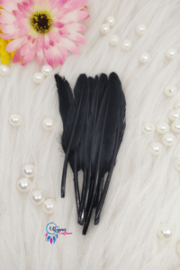 Buy online Black Colour Small Goose Feathers for Dream catchers | Utopian Craftsmen