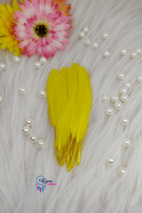 Buy online Yellow Colour Small Goose Feathers for Dream catchers | Utopian Craftsmen