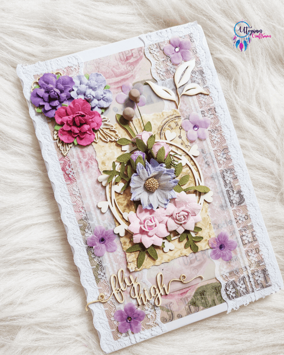 Buy online Handmade flower theme Mixed media Journal | Utopian Craftsmen