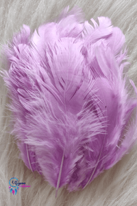 100 pcs Shade of Pinkish Purple Colour Chicken Feathers by Utopian Craftsmen - Utopian Craftsmen