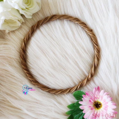 1 piece Wreath Rings 8 inches Circular - Natural Brown Colour