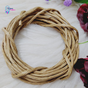 Paper Rope For Wreath Rings And Crafting Requirements - Natural Brown Colour